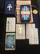 Rosetta Tarot full size PAPYRUS GOLD with hieroglyph guide
