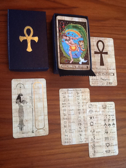 Rosetta Tarot full size PAPYRUS editition with hieroglyph guide